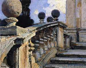 John Singer Sargent - The Steps of the Church of S. S. Domenico e Siste in Rome