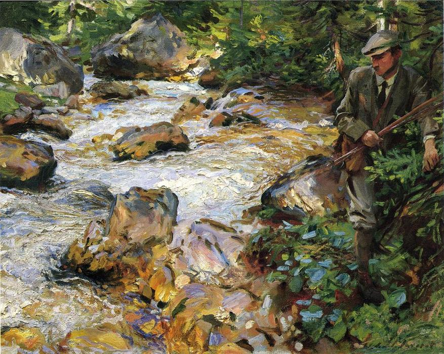 Trout Stream in the Tyrol, 1914 by John Singer Sargent (1856-1925, Italy) | Museum Quality Reproductions | WahooArt.com