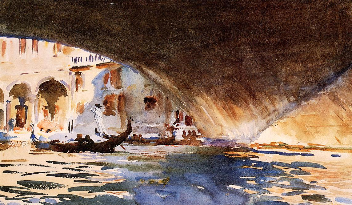 Under the Rialto Bridge, 1909 by John Singer Sargent (1856-1925, Italy) | Museum Art Reproductions John Singer Sargent | WahooArt.com