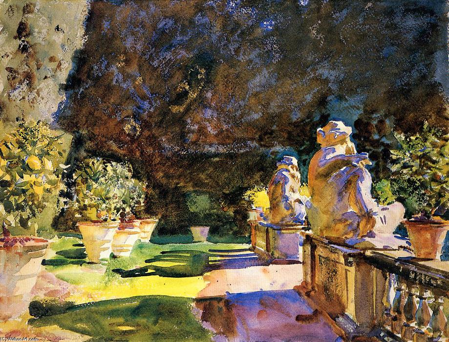 Villa di Marlia, Lucca, Watercolour by John Singer Sargent (1856-1925, Italy)