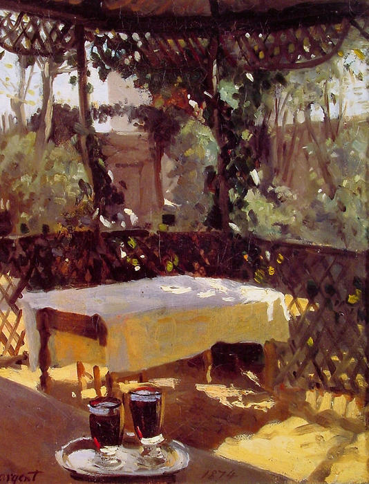 Wineglasses by John Singer Sargent (1856-1925, Italy) | Painting Copy | WahooArt.com