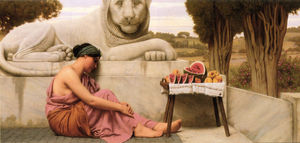 John William Godward - The Fruit Vendor