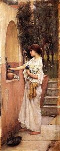 John William Waterhouse - A Roman Offering