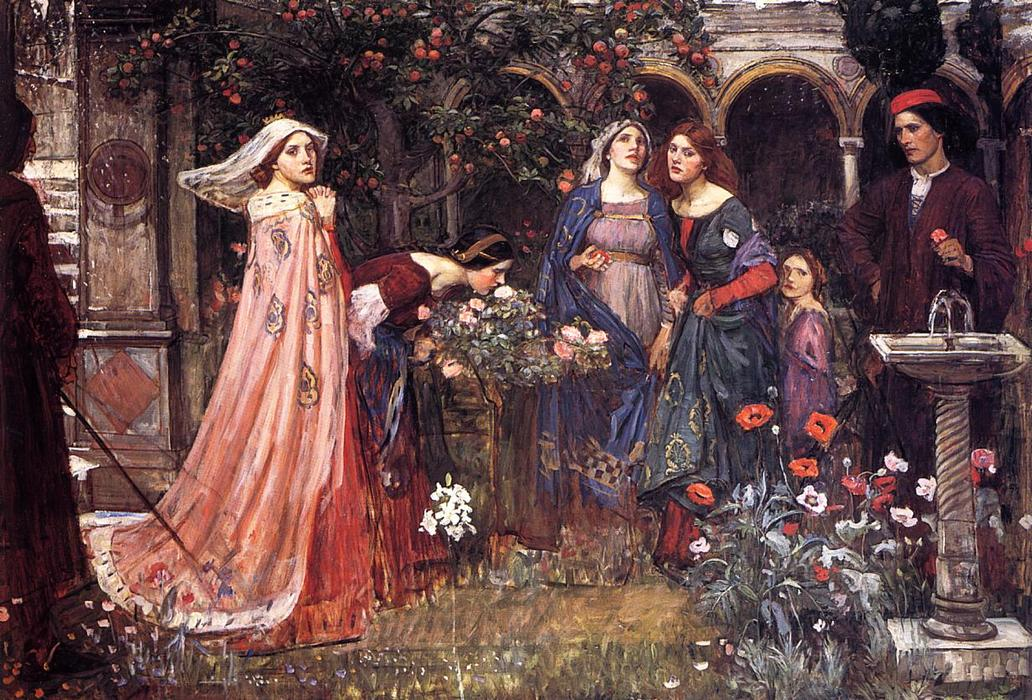 The Enchanted Garden, Oil On Canvas by John William Waterhouse (1849-1917, Italy)