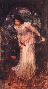 John William Waterhouse - The lady of shalott study - (paintings reproductions)