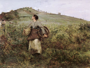 Jules Bastien Lepage - At Harvest Time