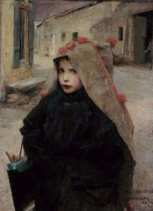 Jules Bastien Lepage - Going to School 1