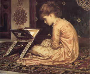 Lord Frederic Leighton - Study. At a Reading Desk