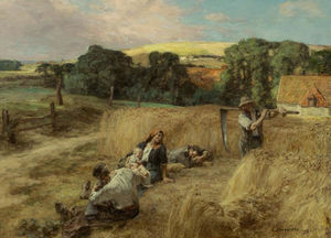 Léon Augustin L'hermitte - A Rest from the Harvest