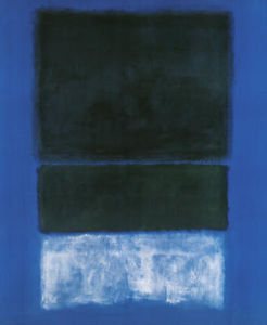 Mark Rothko (Marcus Rothkowitz) - Greens and White in Blue