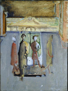 Mark Rothko (Marcus Rothkowitz) - Untitled (four figures in a plaza)