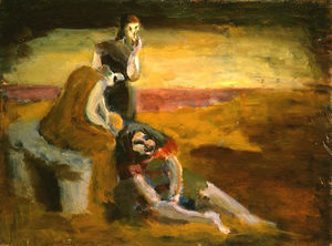 Mark Rothko (Marcus Rothkowitz) - Untitled (three girls in a landscape)