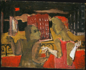 Mark Rothko (Marcus Rothkowitz) - Untitled (two women before a cityscape)