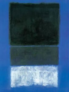 Mark Rothko (Marcus Rothkowitz) - White and Greens in Blue