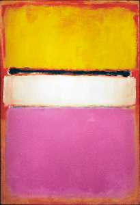 Mark Rothko (Marcus Rothkowitz) - White Center - (Famous paintings reproduction)