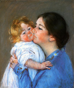 Mary Stevenson Cassatt - A Kiss For Baby Anne