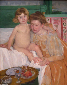 Mary Stevenson Cassatt - Mother and Child (Baby Getting Up from His Nap)