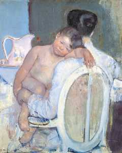 Mary Stevenson Cassatt - Mother Holding a Child in Her Arms