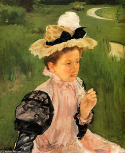 Mary Stevenson Cassatt - Portrait of a Young Girl 1