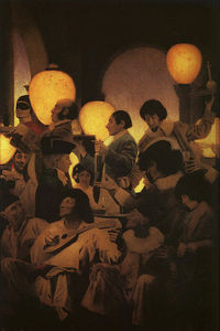 Maxfield Parrish - A Venetian Night-s Entertainment