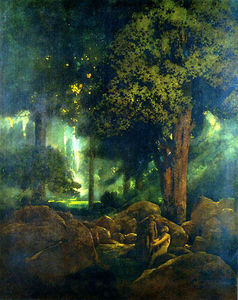 Maxfield Parrish - Adam and Eve