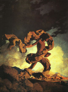 Maxfield Parrish - Cadmus Sowing the Dragon's Teeth