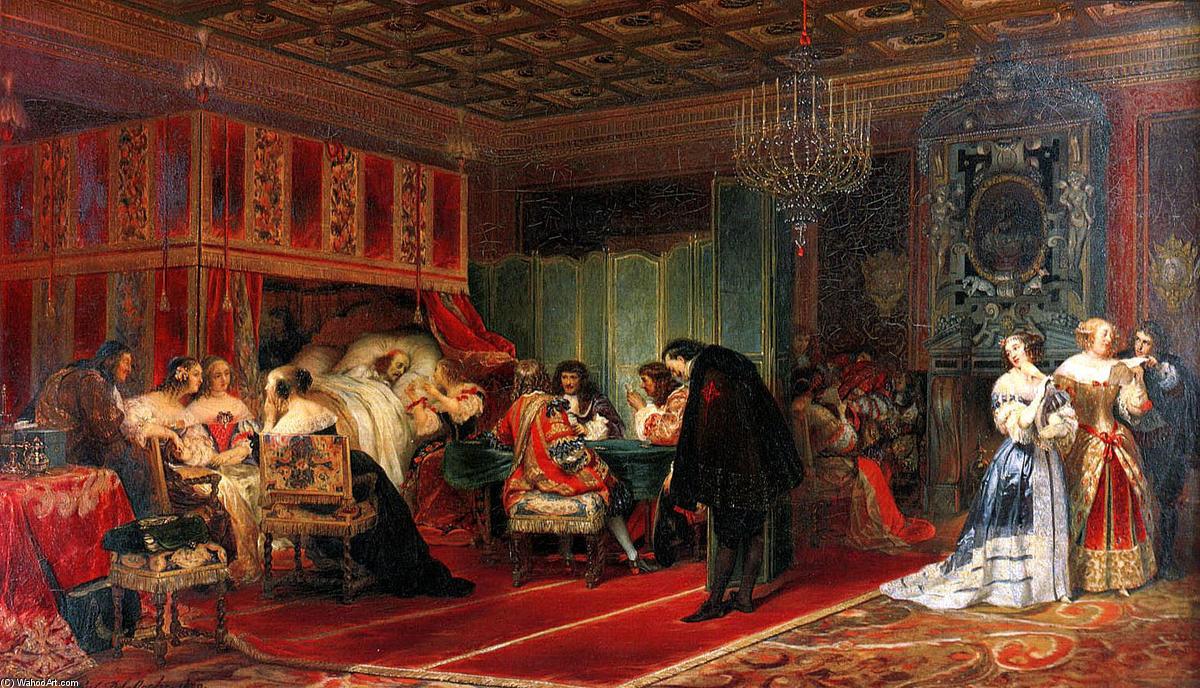 Cardinal mazarin dying oil by paul delaroche hippolyte - Le comptoir des arts saint paul trois chateaux ...