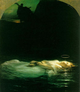Paul Delaroche (Hippolyte Delaroche) - Young Christian Martyr - (Famous paintings reproduction)