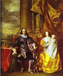 Anthony Van Dyck - Charles I and Queen Henrietta Maria with Charles, Prince of Wales and Princess Mary