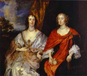 Anthony Van Dyck - Portrait of Anna Dalkeith, Countess of Morton, and Lady Anna Kirk