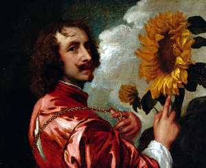 Anthony Van Dyck - Self-portrait with a Sunflower