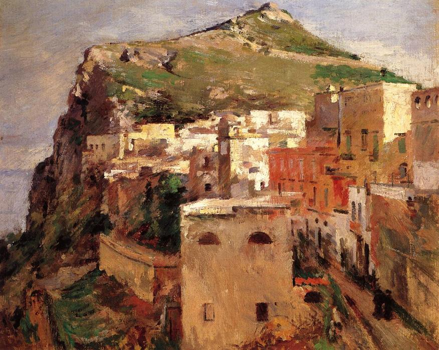 Capri, 1890 by Theodore Robinson (1852-1896, United States) | Museum Quality Reproductions | WahooArt.com