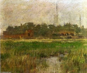 Theodore Robinson - Creek at Low Tide