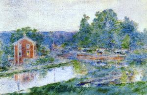 Theodore Robinson - Evening on the Canal