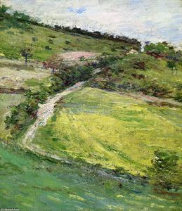 Theodore Robinson - Hillside in Giverny, France