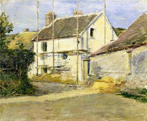 Theodore Robinson - House with Scaffolding