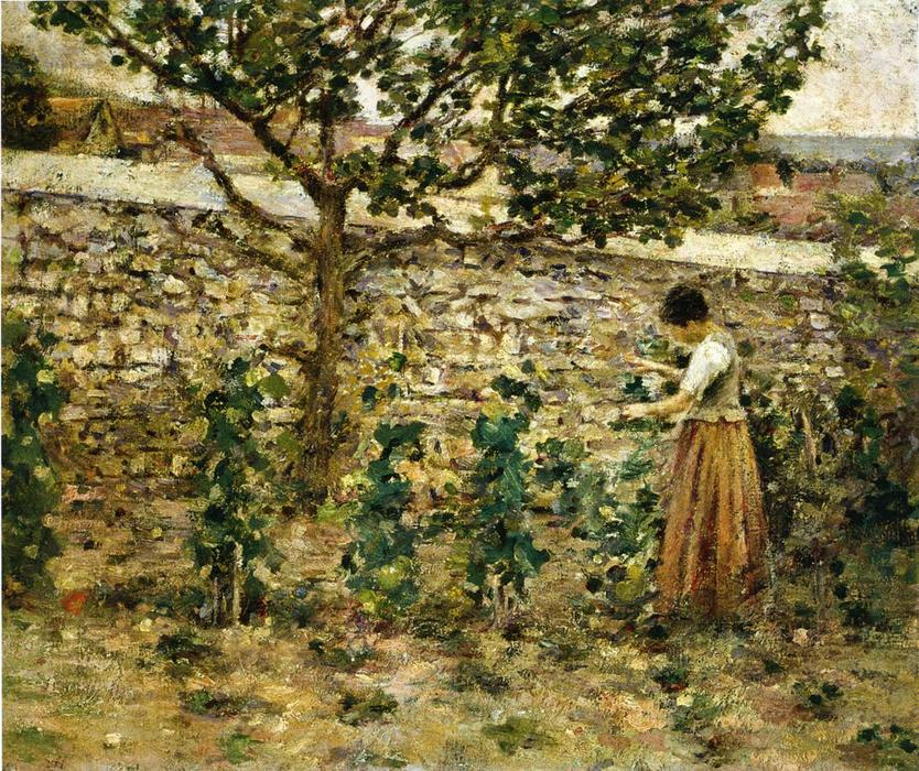 Buy Museum Art Reproductions | In the Garden, 1889 by Theodore Robinson (1852-1896, United States) | WahooArt.com