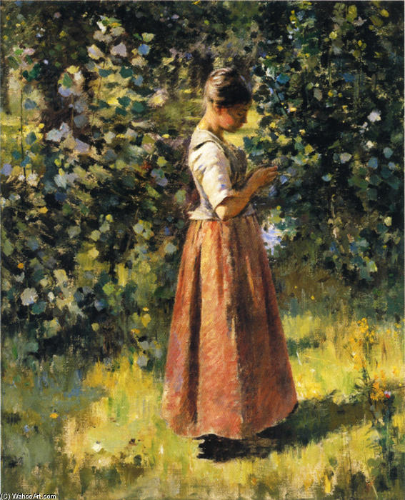 In the Grove, 1888 by Theodore Robinson (1852-1896, United States) | Museum Quality Reproductions | WahooArt.com