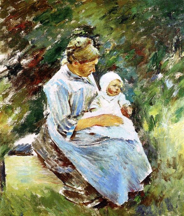 Mother and Child, 1892 by Theodore Robinson (1852-1896, United States) | Art Reproduction | WahooArt.com
