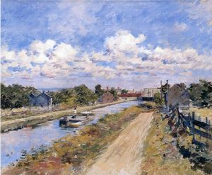 Theodore Robinson - On the Canal (of Port Ben Series)