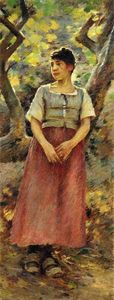 Order Art Reproduction : The Peasant Girl, 1891 by Theodore Robinson (1852-1896, United States) | WahooArt.com
