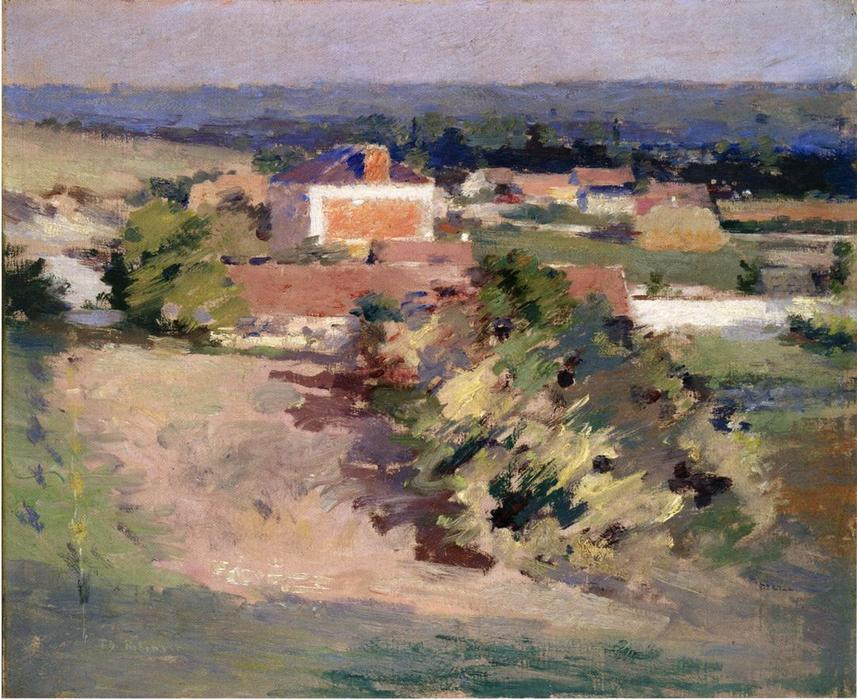 The Red House, 1892 by Theodore Robinson (1852-1896, United States) | Reproductions Theodore Robinson | WahooArt.com