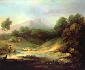 Thomas Gainsborough - Mountain Landscape with Shepherd
