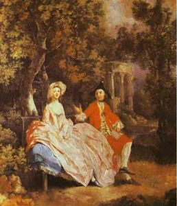 Thomas Gainsborough - Self-Portrait with His Wife, Margaret (probably)