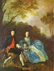 Thomas Gainsborough - Thomas Gainsborough, with His Wife and Elder Daughter, Mary