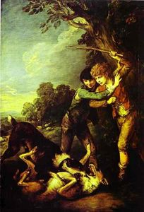 Thomas Gainsborough - Two Shepherd Boys with Dogs Fighting