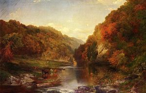 Thomas Moran - Autumn on the Wissahickon