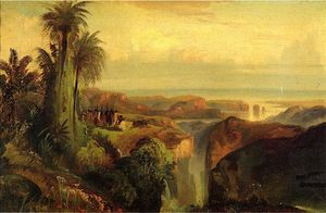 Thomas Moran - Indians on a Cliff