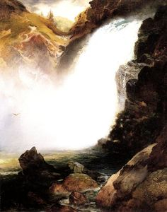 Thomas Moran - Landscape with Waterfall