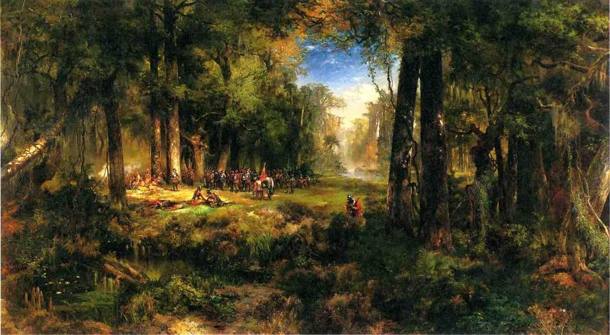 Ponce De Leon In Florida Oil On Canvas By Thomas Moran